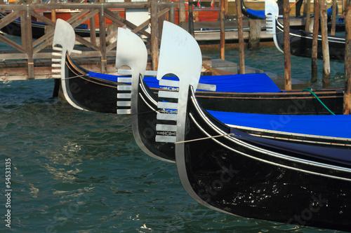 Spoed Foto op Canvas Gondolas Traditional gondolas in Venice, Italy