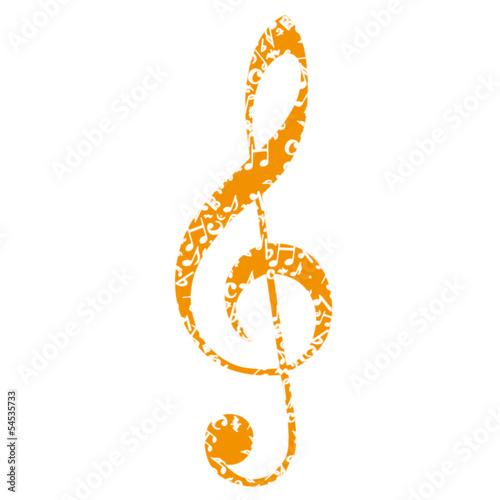 Sticker - Musik Noten Notenschlüssel
