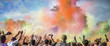 Leinwanddruck Bild - Holi Festival of Colors