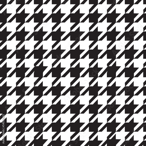 Photo  Houndstooth seamless pattern black and white