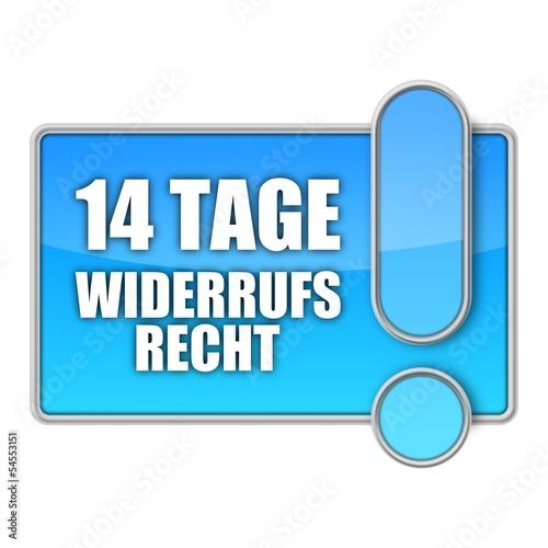 Photo  button mr 14 tage widerrufsrecht I