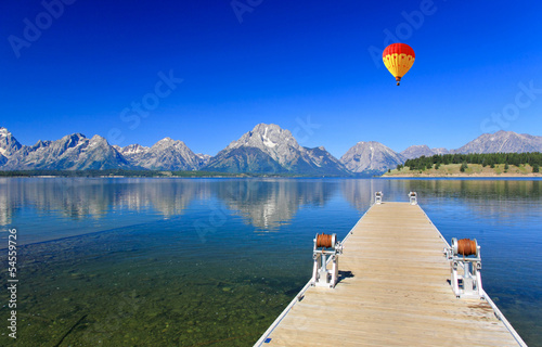 Spoed Foto op Canvas Natuur Park The Jackson Lake in Grand Teton