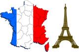 Fototapeta Fototapety Paryż - mapa francji