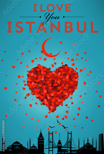 I Love You Istanbul Poster Design Poster