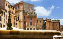 Giordano Bruno Statue In Campo De' Fiori, Rome. Italy.