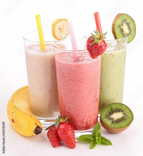 Foto op Plexiglas Milkshake three glasses of smoothies