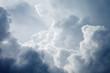 Leinwandbild Motiv Dramatic sky with stormy clouds