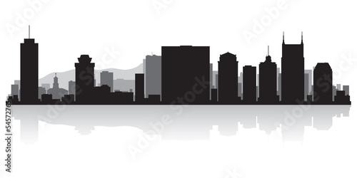 Foto  Nashville city skyline silhouette