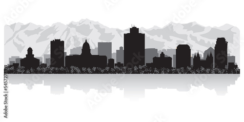 Foto  Salt Lake city skyline silhouette