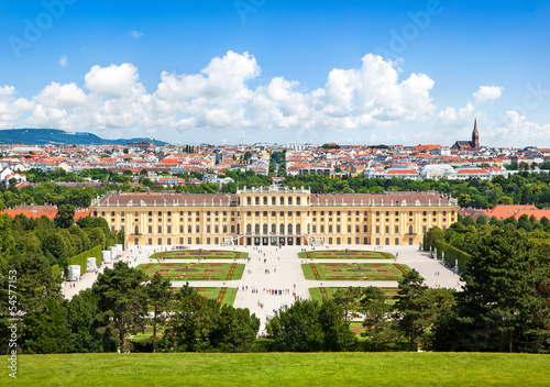 Beautiful view of Schloss Schönbrunn in Vienna, Austria Poster