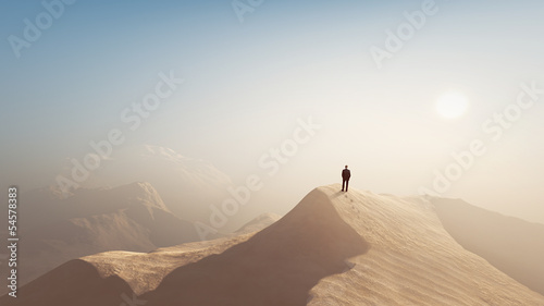 Fotografía man in a desert