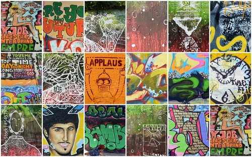 Wall Murals Graffiti collage graffiti