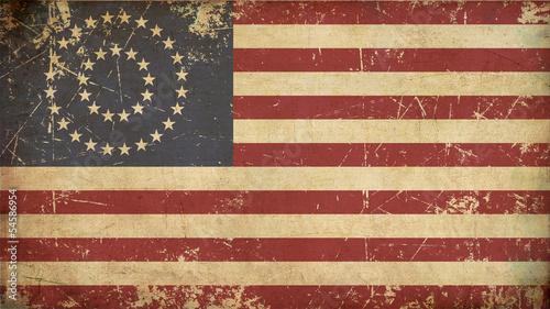 Fototapeta  US Civil War Union -37 Star Medallion- Old Paper