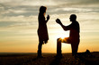 canvas print picture - Sunset Proposal