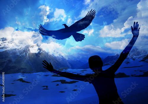 In de dag Eagle Soar like an eagle
