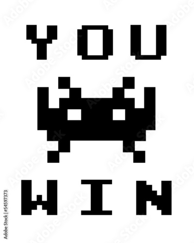 Poster Pixel you win