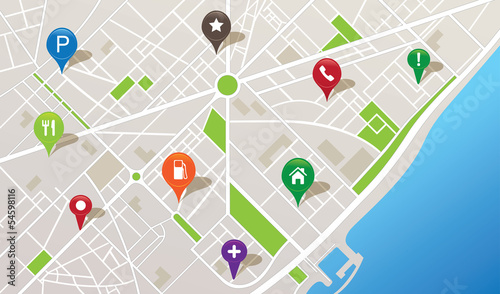 Zdjęcie XXL Mapa miasta