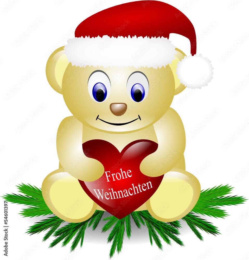 Teddy Weihnachten.Gamesageddon Stock Frohe Weihnachten Teddy Auf Tannenzweigen
