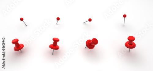 Obraz na plátně  Push pins