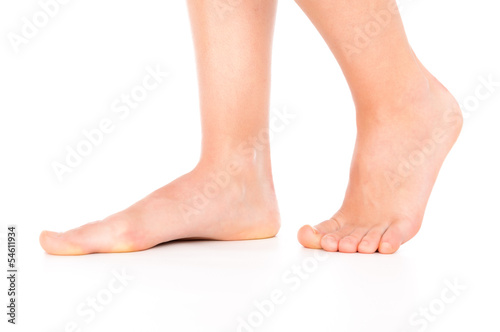 Photo  Woman foot isolated