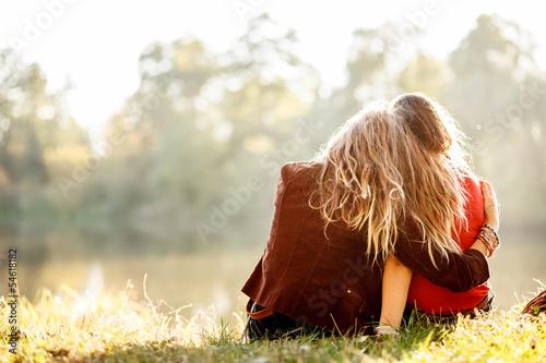 Photographie  Deux femmes de vue arrière