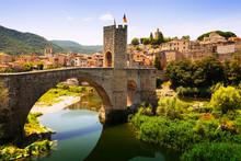 Medieval Bridge With Antique Gate