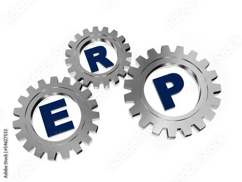Fotografie, Obraz  ERP in silver metal gears