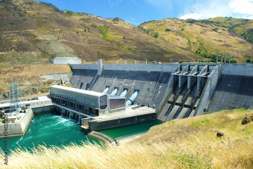 Photo sur Toile Barrage Dam ,Queenstown, NewZealand
