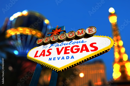 Poster Las Vegas Welcome to Fabulous Las Vegas Sign