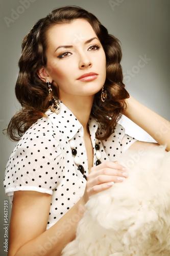Fotografia  Stylized retro portrait