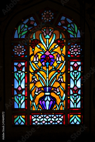 Photo  Stained glass window-Blue Mosque (Sultan Ahmet Mosque) Istanbul