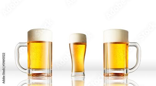 Door stickers Beer / Cider 白背景のビール