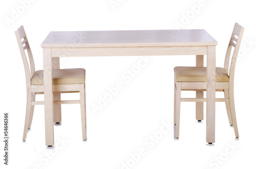 Fototapeta Furniture set with table and chair obraz