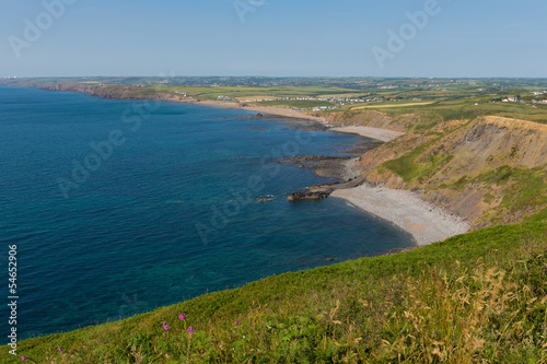 Fotografía Coastal view North Cornwall including Widemouth Bay