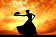 Leinwandbild Motiv Woman dancing flamenco