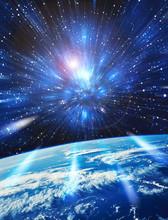 Terre Et Espace Avec étoiles