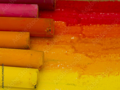 artistic colors background, red, yellow - 54662350
