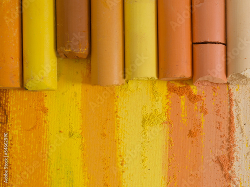 colorful artistic crayons