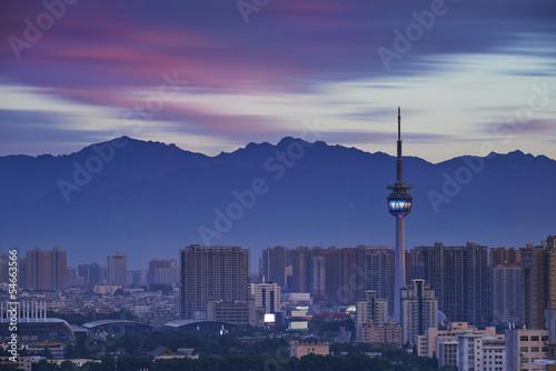 Papiers peints Xian city panorama