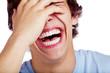 Leinwandbild Motiv Laughing guy closeup