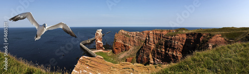 Poster North Sea Helgoland Panorama Lange Anna