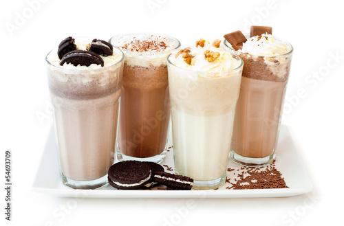 Obraz kawa deser shake śmietana - fototapety do salonu