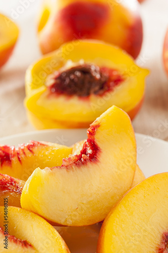 Organic Ripe Orange Peaches