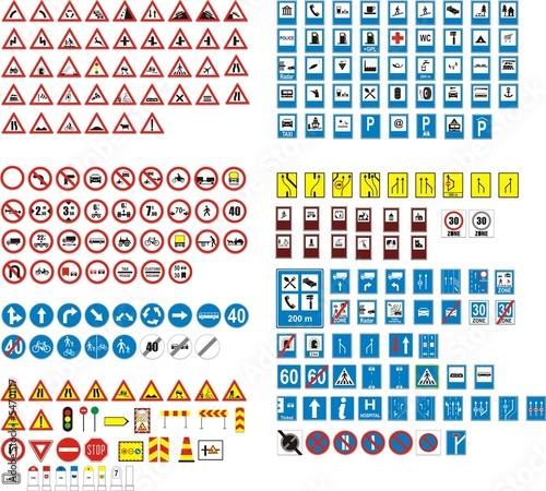 Fotografía  panneaux routier