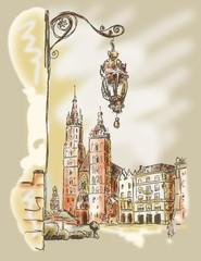 Fototapeta Kraków Krakau Rynek