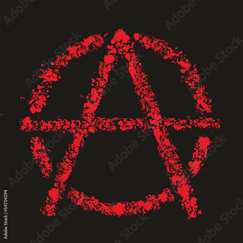 Valokuva  Grunge anarchy symbol , vector illustration