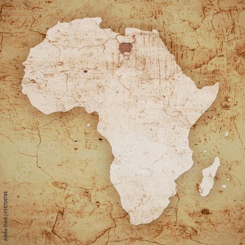 Fototapeta Afryka   stara-mapa-z-kontynentem-afrykanskim