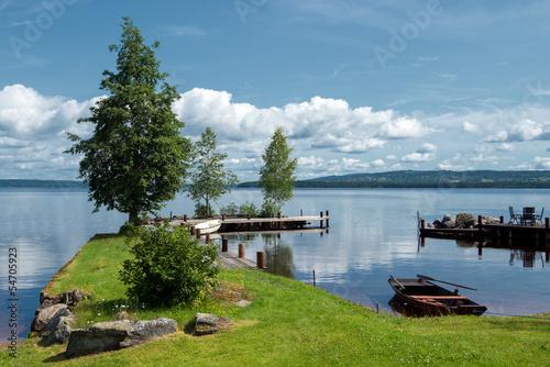 Fotografía  Summer morning at Lake Siljan in Sweden