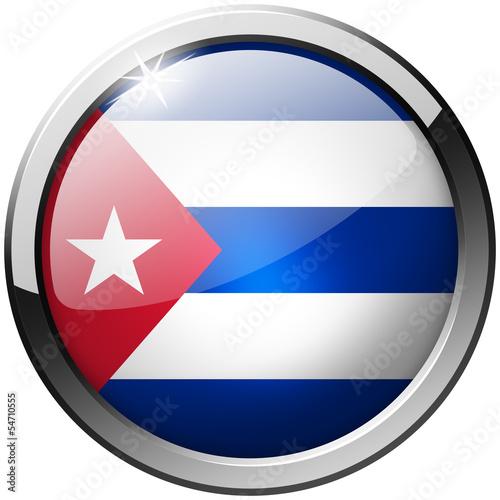 Fotografía  Cuba Round Metal Glass Button