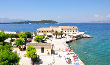 Promenade In Corfu, Greece